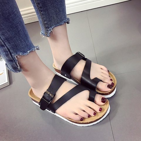 Large Size Couple Slip-On Flip-flops Sandals Adjustable Buckle Slippers