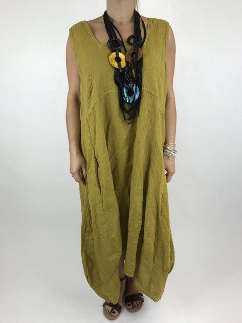 Scoop Neckline Women Dresses Solid Dresses