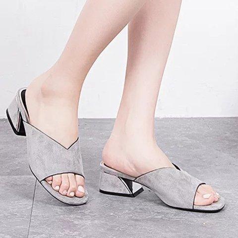 Women Peep Toe Sandals Casual Slip On Shoes