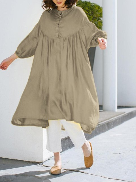 Crew Neck Women Dresses Going Out Casual Solid Dresses