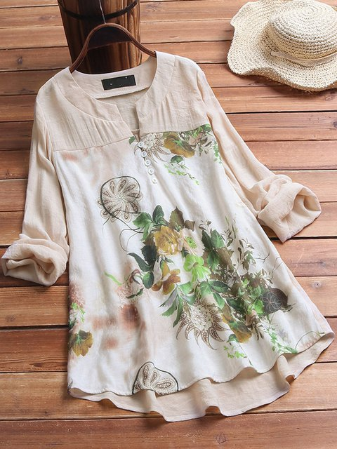 Printed Casual Long Sleeve Blouse