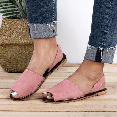Women Flip Flop Sandals Plus Size Peep Toe Slip on Sandals