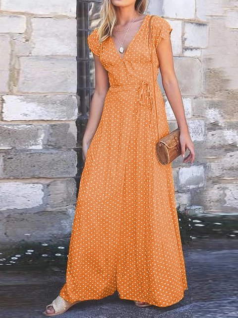 Women Dresses Going Out Polka Dots Dresses