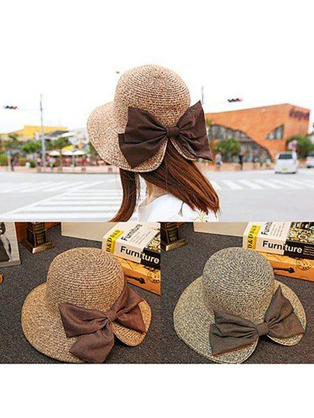 Womens Summer Bow Straw Hats
