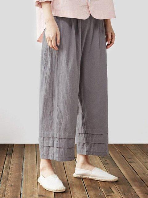 Plain Linen Pants