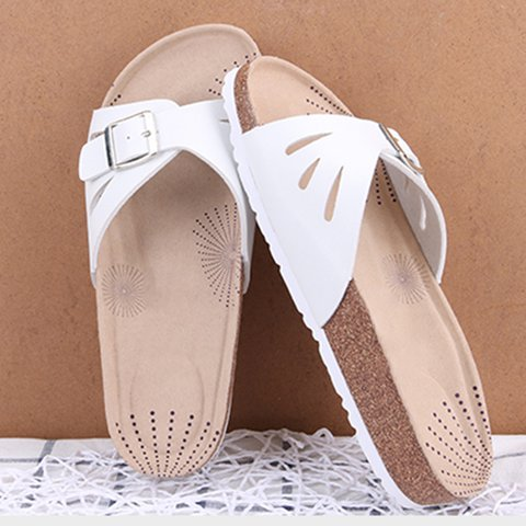 Women Flat Heel Hollow-Out Slippers