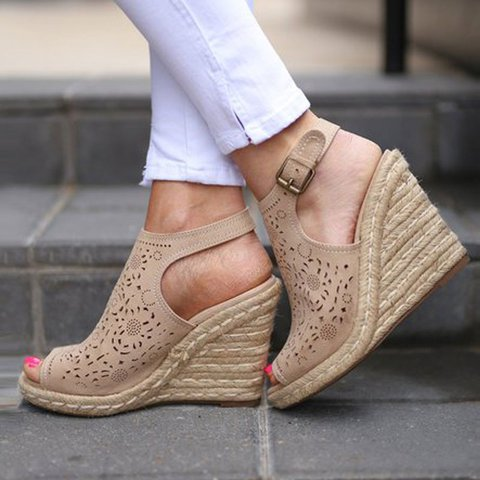 Beige Holiday Pu Sandals