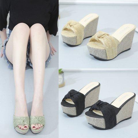 Women's  Wedge Heel Slip-On Creepers & Wedges