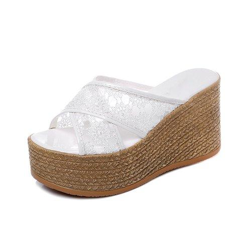 Women Summer Casual High Heel  Slippers