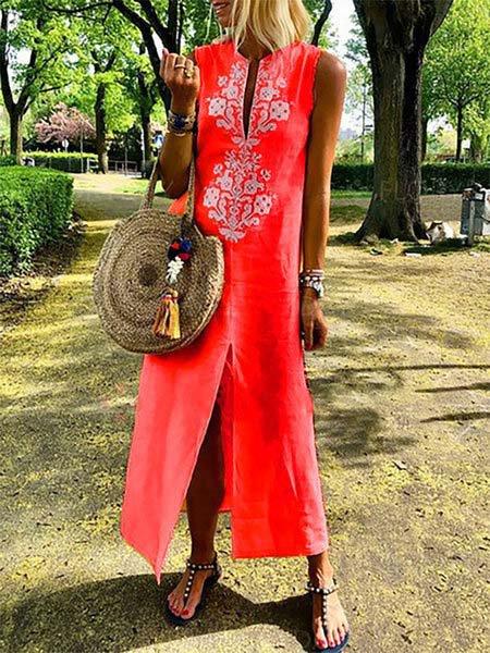 565a403ae3f3 JustFashionNow Crew Neck Yellow Women Summer Dress Daily Dress ...