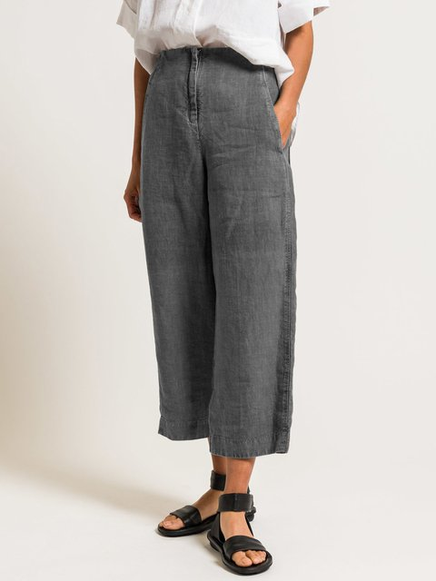 4 Colors Casual Paneled Solid Summer Pants