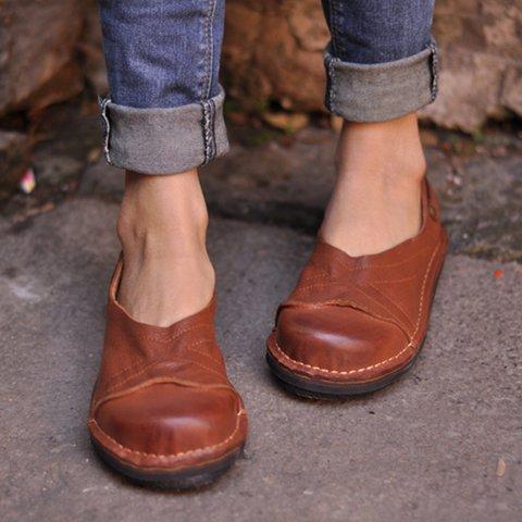 Women Soft Pu Flat Heel Spring/fall Loafers