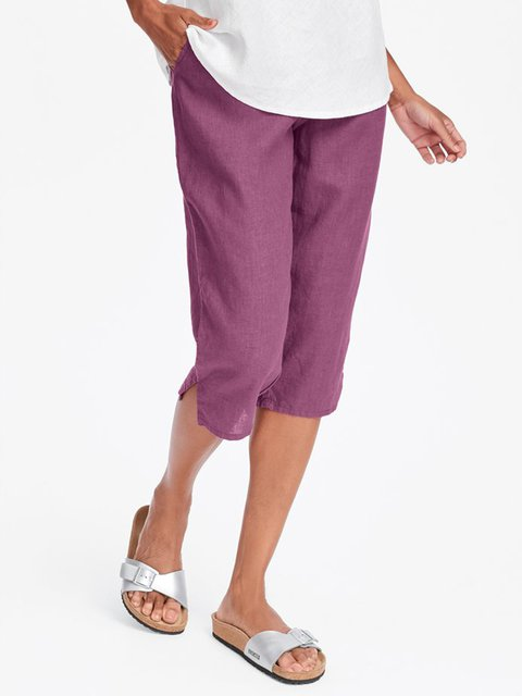 Women Summer Pants Casual Plain