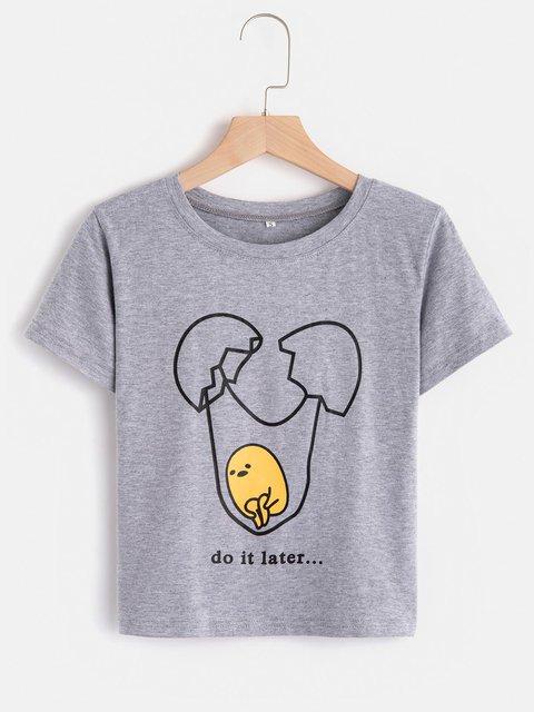 Fashion Sweet Cute Graphic Print T-Shirts
