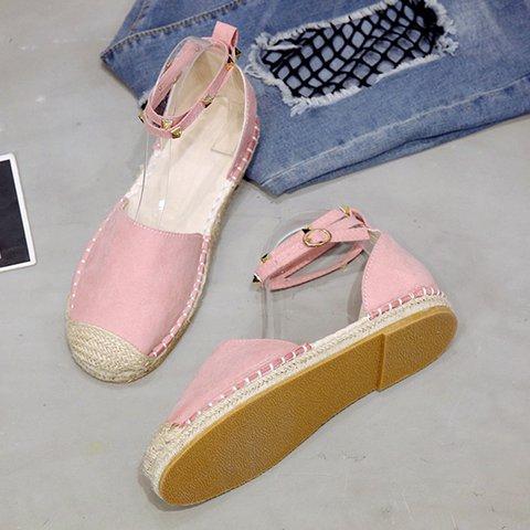 Women's Flat Buckle Strap Round Toe Espadrille Sandals