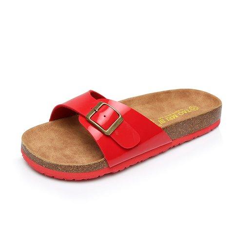 Beach Holiday Peep Toe Daily Flat Heel Slippers