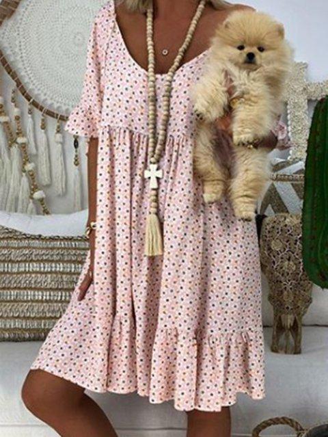 Bohemian Printed Short  Sleeve Dresses