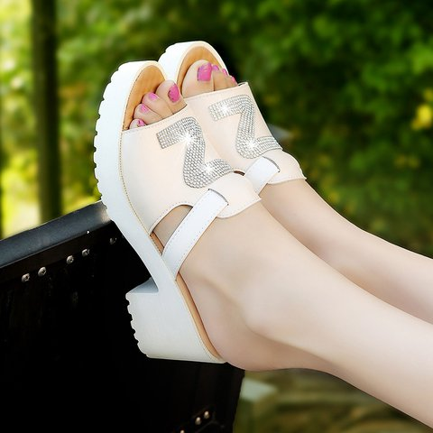 Candy Color Daily Casual Chunky Heel Slip On Slippers