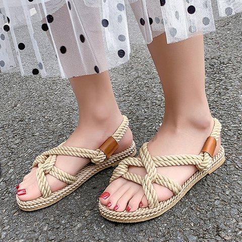 Handmade Casual Open Toe Slip On Sandals