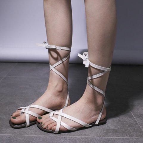 Women Sandals Thong Sandals Flip Flops Buckle Strap PU Summer Shoes