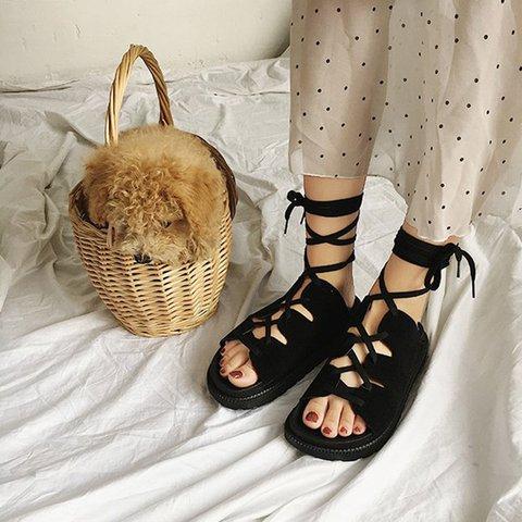 Womens Sandals Gladiator Sandals Buckle Strap Open Toe Summer Sandals