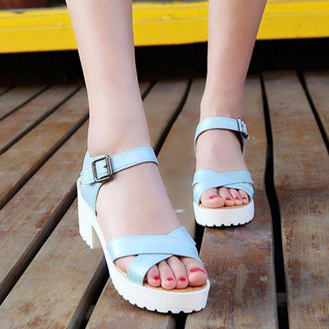 Women's Casual Cross Strap Open Toe Buckle Strap Sandals