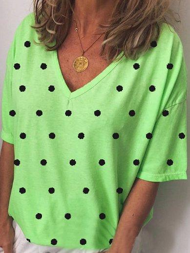 Polka Dots Casual Shirts T-shirts