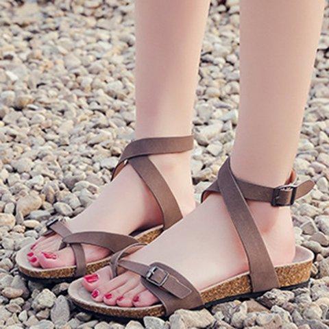 Womens Sandals Ankle Strap Sandals Flip Flops Summer Shoes