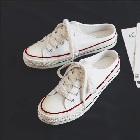 Casual Slip-On Lace-Up Comfy Canvas Athletic Sneakers