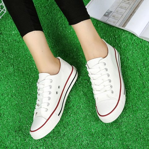 Classic Low Top Lace-Up All Season Canvas Sneakers