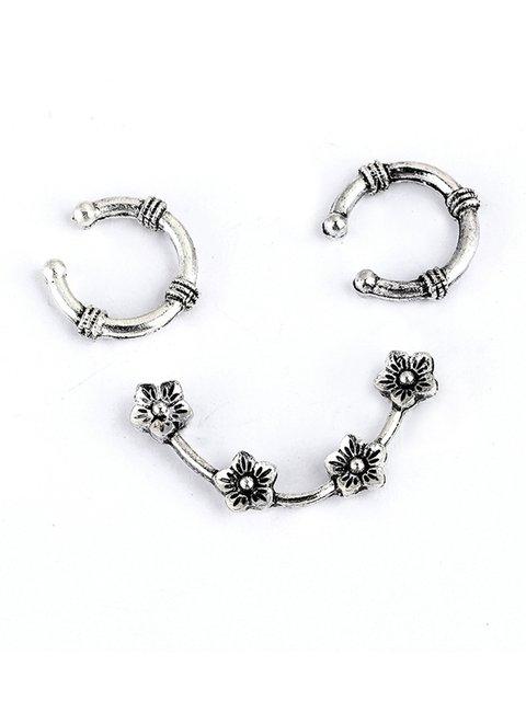 Flower Silver Earrings