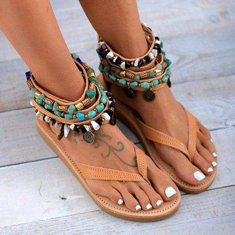 Women Flat Heel  Gladiator Sandals
