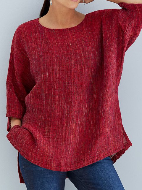 55c415dae56de Women Spring Blouses 3 4 Sleeve Casual Tops - JustFashionNow.com