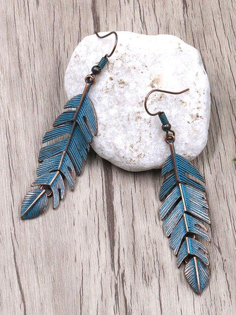Chic Materials Tassel Leaves Earrings
