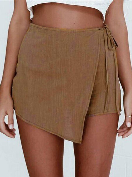 Summer Casual Solid Skirt-Shorts