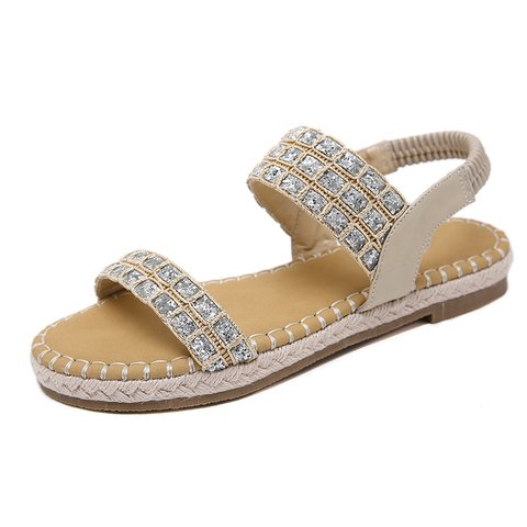 Women Peep Toe Sandals Casual Beach Shoes