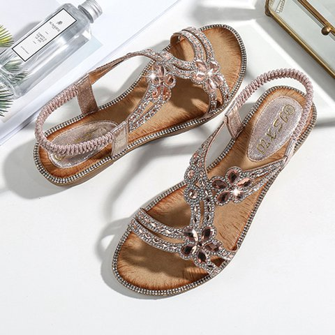 Women's Flower Casual PU Boho Sandals