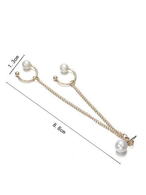 Womens Single Piece Pearl Ear Stud Tassel New Earrings