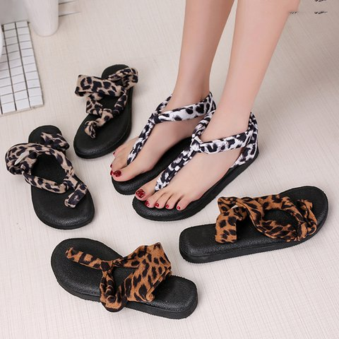 Womens Sandals Flip Flops Slip On Sandals Flat Heel Shoes