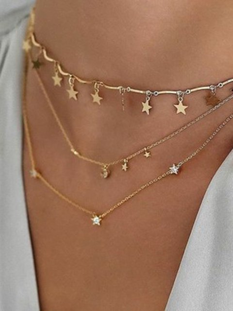 Multi-layer Star As Picture Necklaces