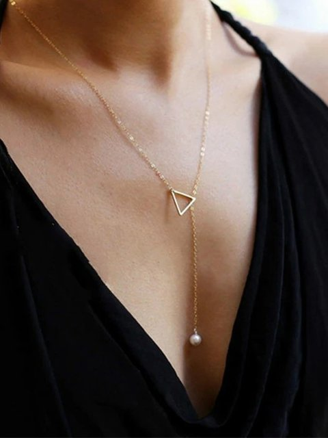 Women Necklaces Pearl Simple Adjustable Necklaces