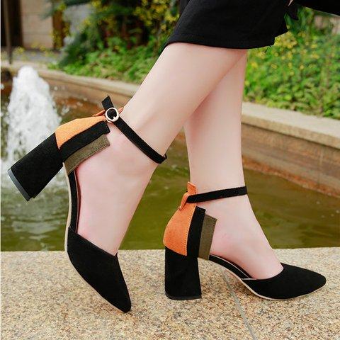 Women's Elegant All Season Chunky Heel Pointed Toe Pumps
