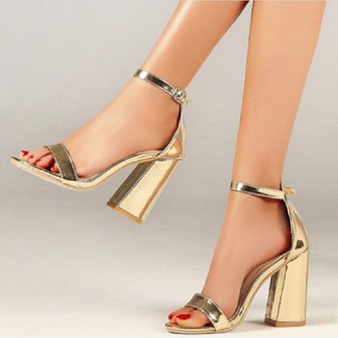 c43f354d11f6a8 Justfashionnow Fashion Open Toe Adjustable Buckle Heels Women Shoes Plus  Size Vintage Sandals