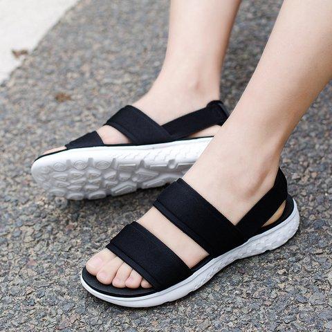 Summer Slip-On Elastic Band Women Shoes Non-slip Sandals
