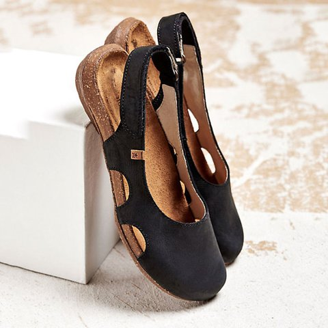 Women's Low Heel Comfy Sandals
