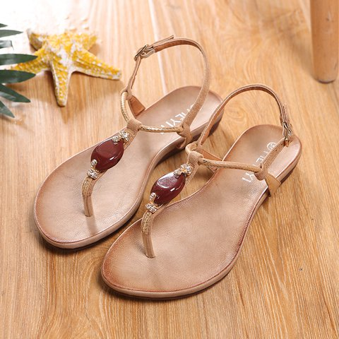 d06f86085af9 Justfashionnow Sandals Casual Flat Heel Camel Peep Toe Sandals