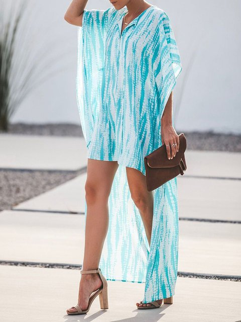 V Neck Women Dresses Beach Holiday Dresses