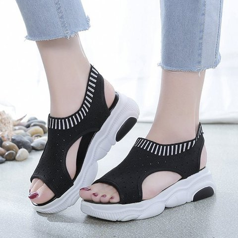Open Toe Casual Slip-On Sandals
