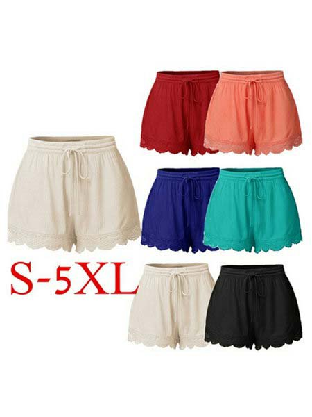 Summer Casual Solid Shift Shorts