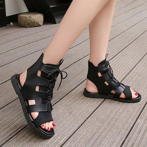 6146f5c80f83 Justfashionnow Sandals Flat Heel Round Toe White Casual Sandals